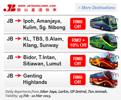 JB Transliner Discounted Bus Tickets