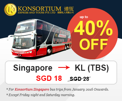 Up To 40% Off Konsortium Singapore Bus Tickets