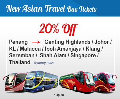 Up to 20% off New Asian Travel Bus Tickets